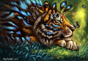 Тигр и бабочка